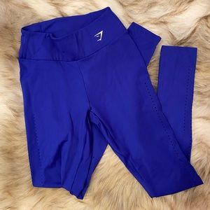 Gymshark Laser Cut Tights - Blue with small pocket